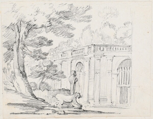 Loggia and Statuary in an Italian Garden