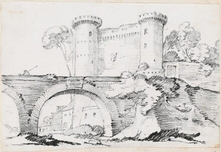 A Stone Bridge and the Fortified Entrance to a Town