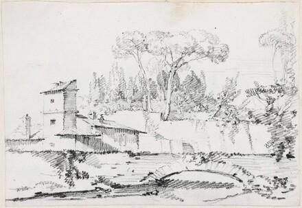 View of the Prato of the Villa Borghese