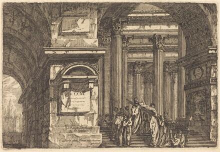 Funeral Scene in Imaginary Architecture