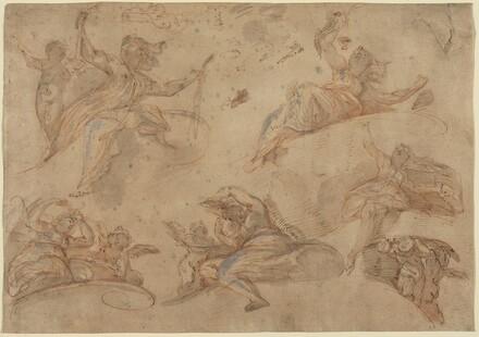 Allegorical Figures Seen from Below