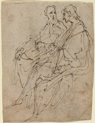 Two Seated Male Figures