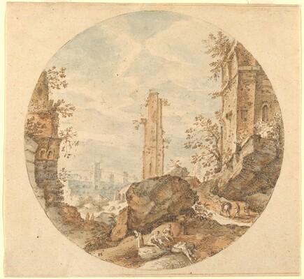 Travellers among Roman Ruins