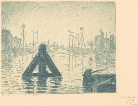 Harbor in Holland - Flushing (La balise - En Holland, Flessingue)