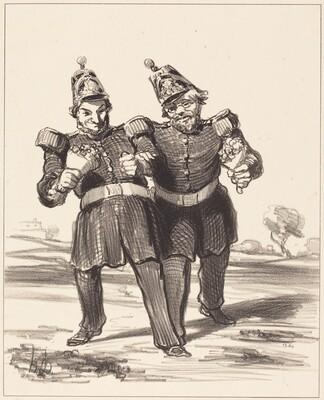 Les Deux banqueteurs en joie