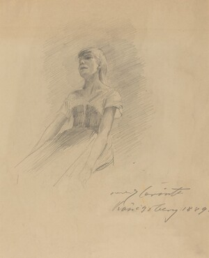 Seated Young Woman [recto]