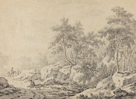 Travelers in a Rocky Wood