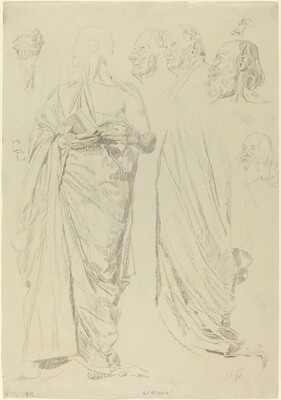 Studies of Men in Togas [recto]