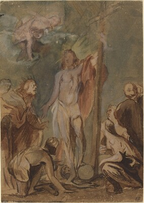 The Risen Christ Surrounded by Saints