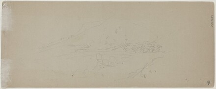 View of a Mountain [verso]