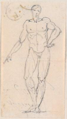 Statue of a Male Nude with Hand on Hip