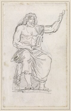 Statue of Jupiter, Seated [recto]