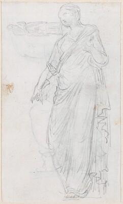 Woman in Toga [verso]
