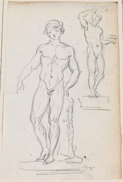Two Statues of Male Nudes