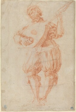 Man Playing a Lute [recto]