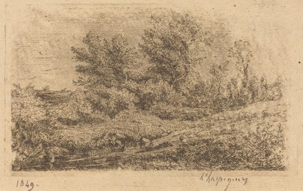 Bouquet d'arbres au ruisseau (Stand of Trees on a River)