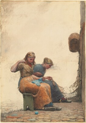 Winslow Homer, Mending the Nets, 1882