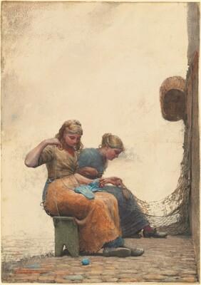 Winslow Homer, Mending the Nets, 1882
