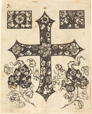 Cross Embellished with Flowers