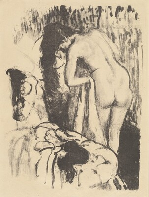 Nude Woman Standing, Drying Herself (Femme nue debout, a sa toilette)
