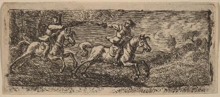 Two Horsemen Fighting