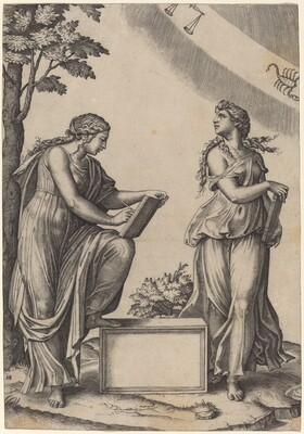 Two Women with the Zodiac