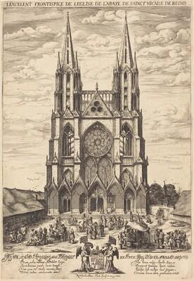 La facade de l'abbaye de S. Nicaise de Reims