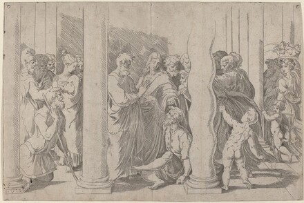 Peter and John Healing the Lame Man at the Gate of the Temple