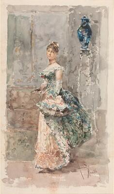 Lady in Formal Dress