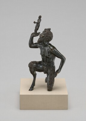 Kneeling Satyr Supporting the Figure of an Emperor