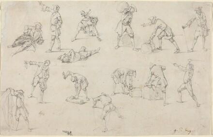 Studies of Soldiers in Camp
