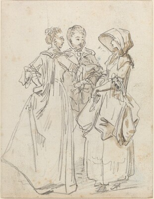 Three Ladies Chatting