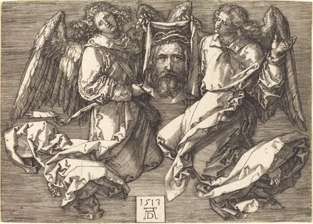 The Sudarium Held by Two Angels