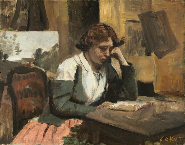 Woman Reading in the Studio