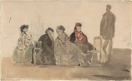 Four Ladies Seated at Trouville