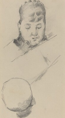 Bust of Madame Cézanne [verso]