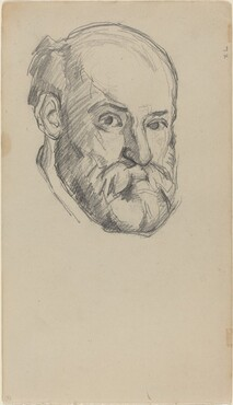 Paul Cézanne, Self-Portrait [recto], c. 1880/1882c. 1880/1882