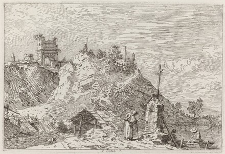 Landscape with the Pilgrim at Prayer [upper left]