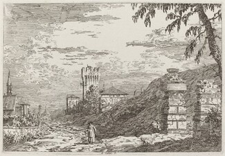 Landscape with Tower and Two Ruined Pillars [left]