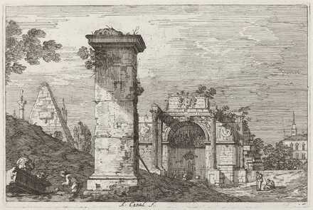 Landscape with Ruined Monuments [right]