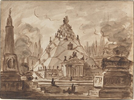 Architectural Fantasy with a Pyramidal Mausoleum