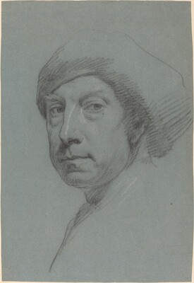 Self-Portrait Wearing a Turban