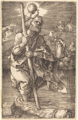 Saint Christopher Facing Right
