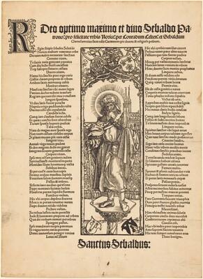 Saint Sebaldus Standing on a Column