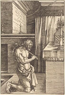 King David Doing Penance