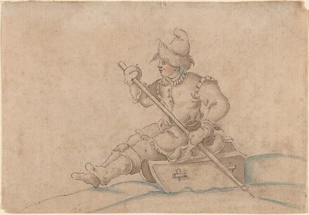 A Boy on a Sled