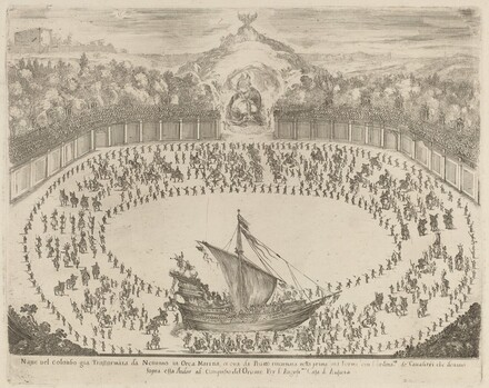 Parade with a Chariot Having the Form of a Ship