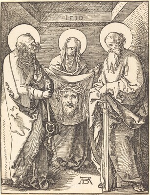 Saint Veronica between Saints Peter and Paul