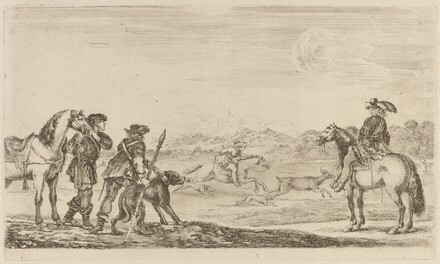 Small Deer Chased by a Cavalier