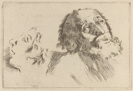 Study of Heads, One Turned to the Right and the Other Turned Left